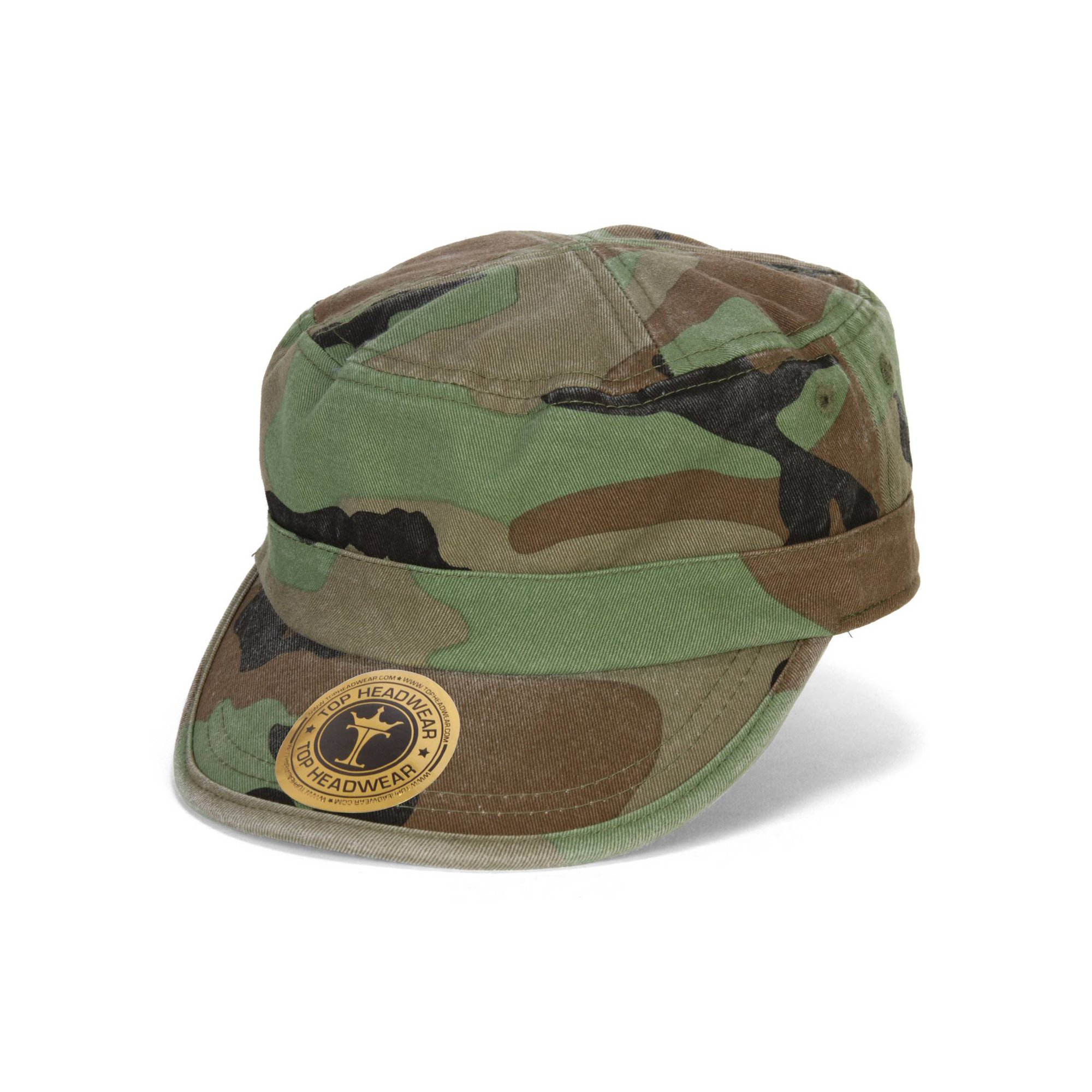 TopHeadwear Washed Cotton Cadet Cap, Olive