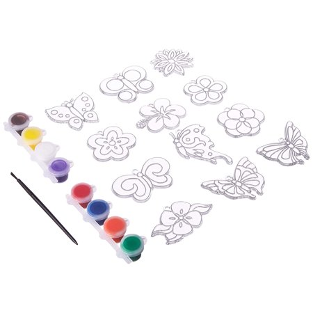New Image Group SGP-89 Suncatcher Group Activity Kit, Butterfly and Flowers, 12-Pack - Original Version - Butterfly Suncatcher