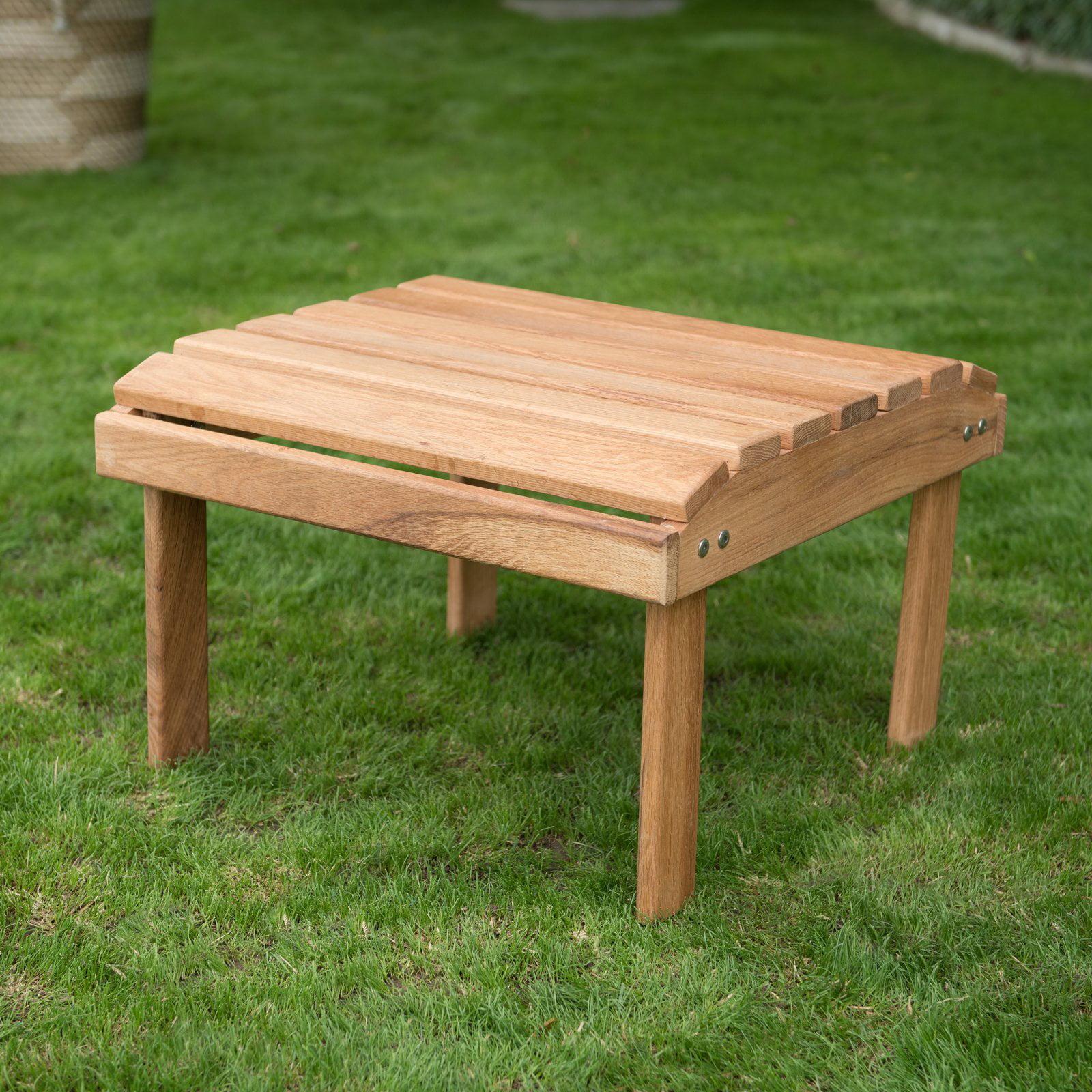 Belham Living Hampton Oak Wood Deluxe Side Table
