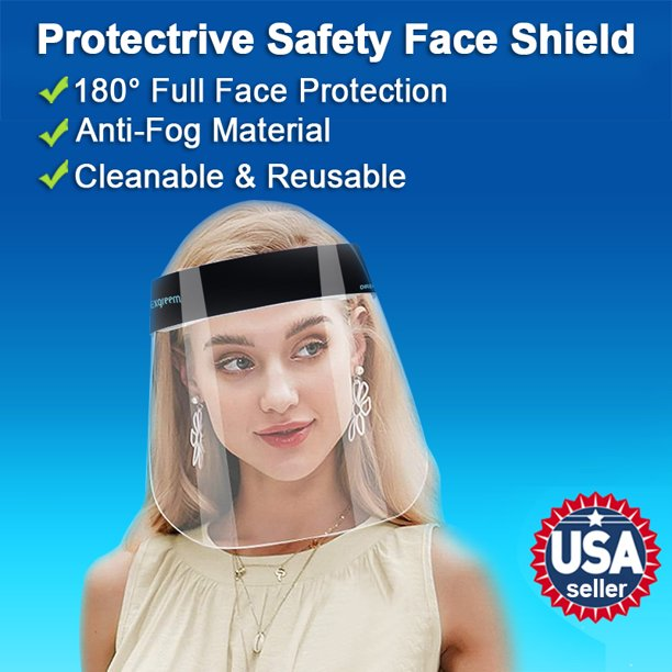 Anti-Fog Material-Transparent Glasses Face Shield for Personal Protection for Outdoor Activities 1pcs M Face Cover Designed Fashion Style