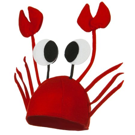 Crab Hat - Red W40S18A - Crusty Crab Hat