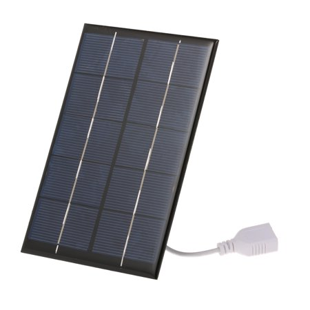 2.5W/5V Portable Solar With USB Port Monocrystalline silicon Compact Solar Panel Phone Cellphone Power Bank For Camping Hiking Travel (Solar Cells 6x6 Monocrystalline)
