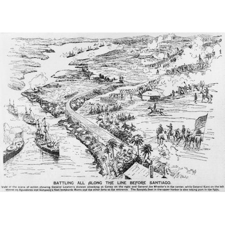 - Birdseye View Of The Santiago Campaign Of The Spanish American War The Spanish Fleet Trapped By Us Blockade History