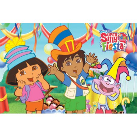 Dora the Explorers Super Silly Fiesta - Dora & Diego Poster Print
