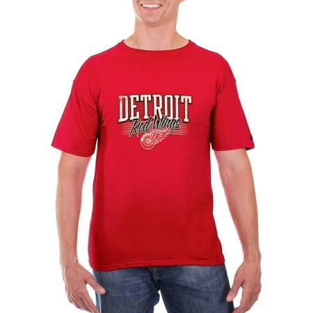 (Men's Red Detroit Red Wings Team Logo T-Shirt)