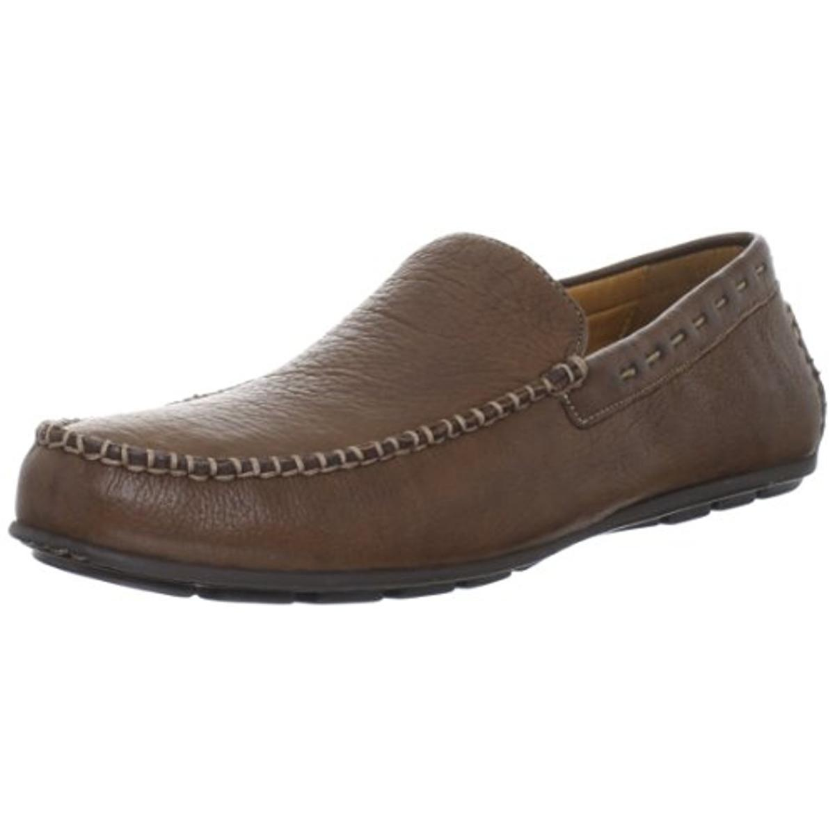 Brass Boot Mens Dempsey Leather Slip-On Driving Moccasins by Brass Boot