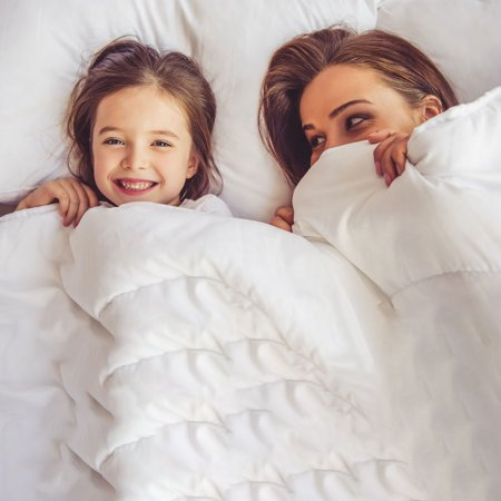 All-season Down Comforter 100% Polyester Reversible Machine Wash Pink Twin - image 1 de 8