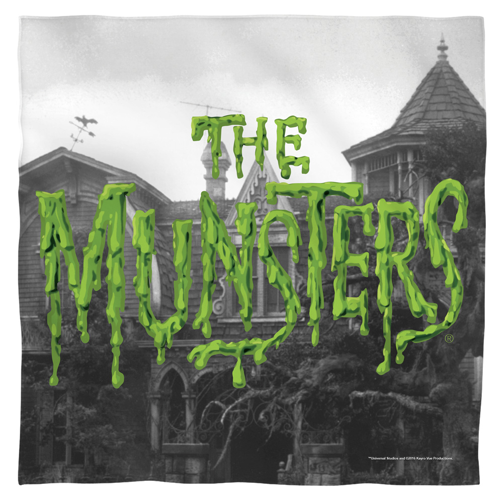 Munsters Logo Bandana  White One Size
