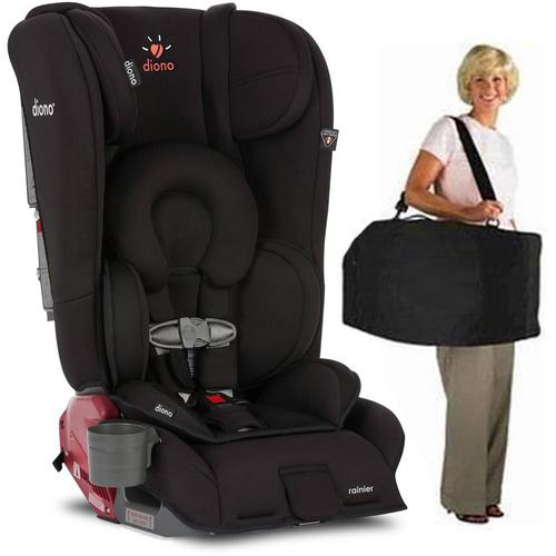 Diono Rainier Convertible Car Seat with Carry Bag- Midnight Black