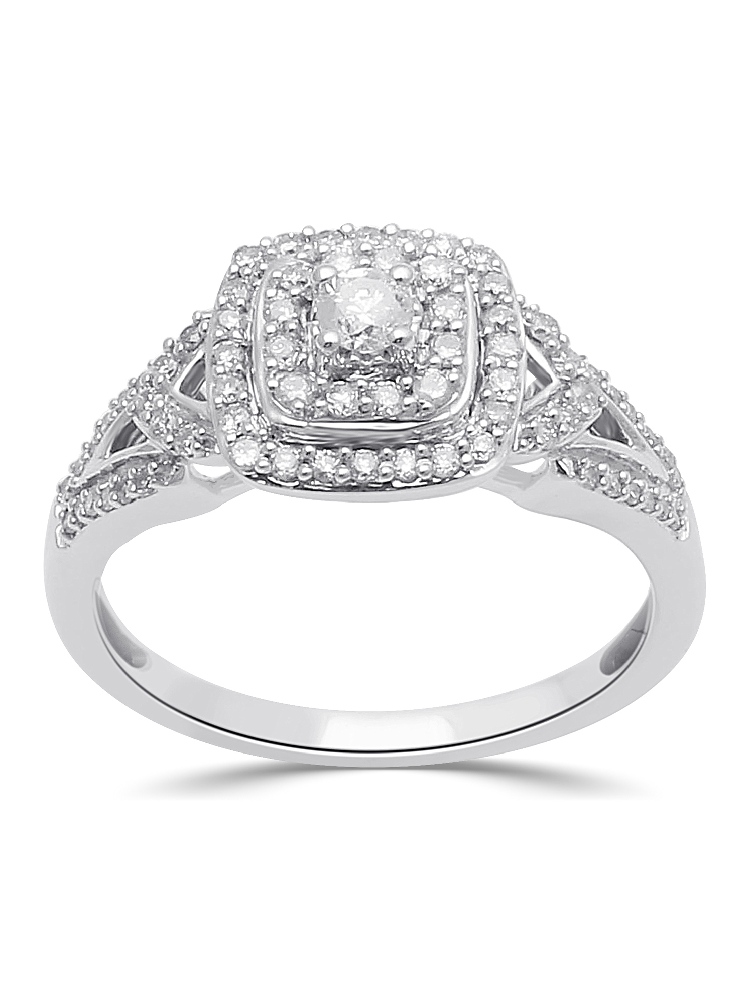 1/2 Carat T.W. Diamond Sterling Silver Anniversary Ring