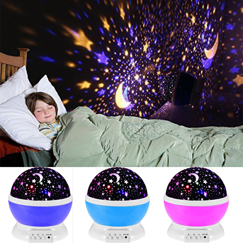 Mupoo Romantic LED Starry Night Sky Projector Lamp Kids Gift Star light Cosmos Master