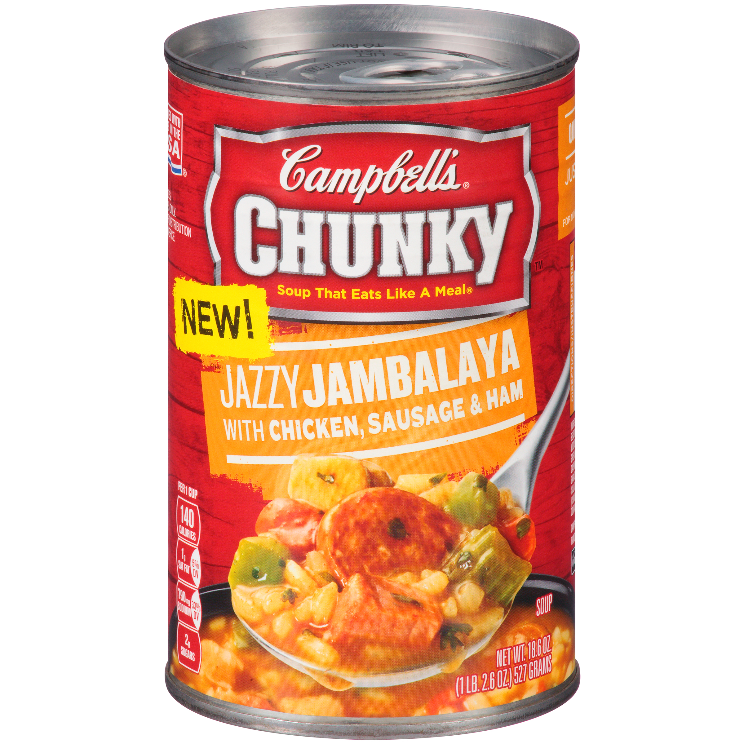 Campbell's Chunky Jazzy Jambalaya with Chicken, Sausage & Ham Soup 18.6oz