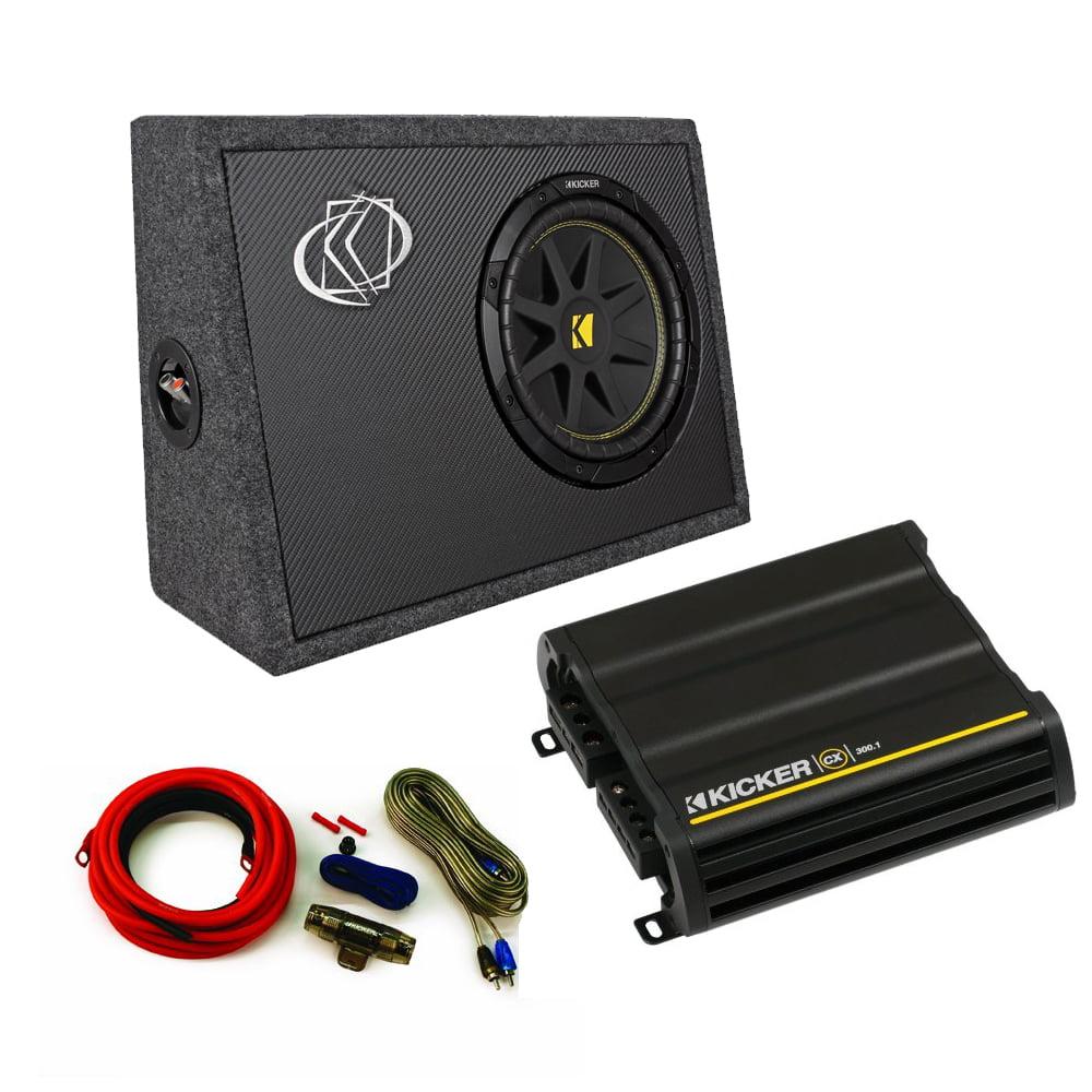 Kicker Truck Bundle with 10TC102 Box + 12CX3001 Amplifier...