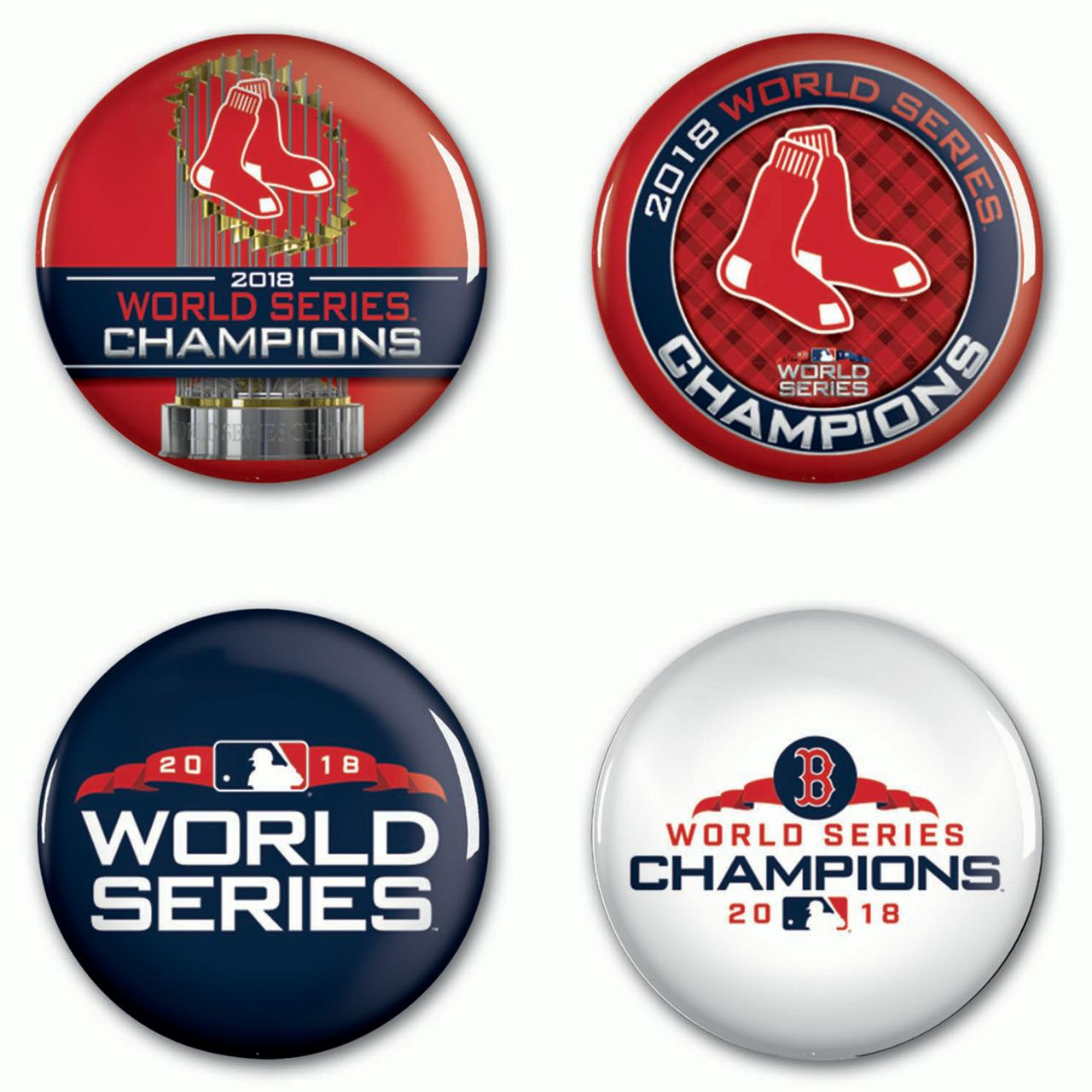 Boston Red Sox WinCraft 2018 World Series Champions 4-Piece Button Set - No Size