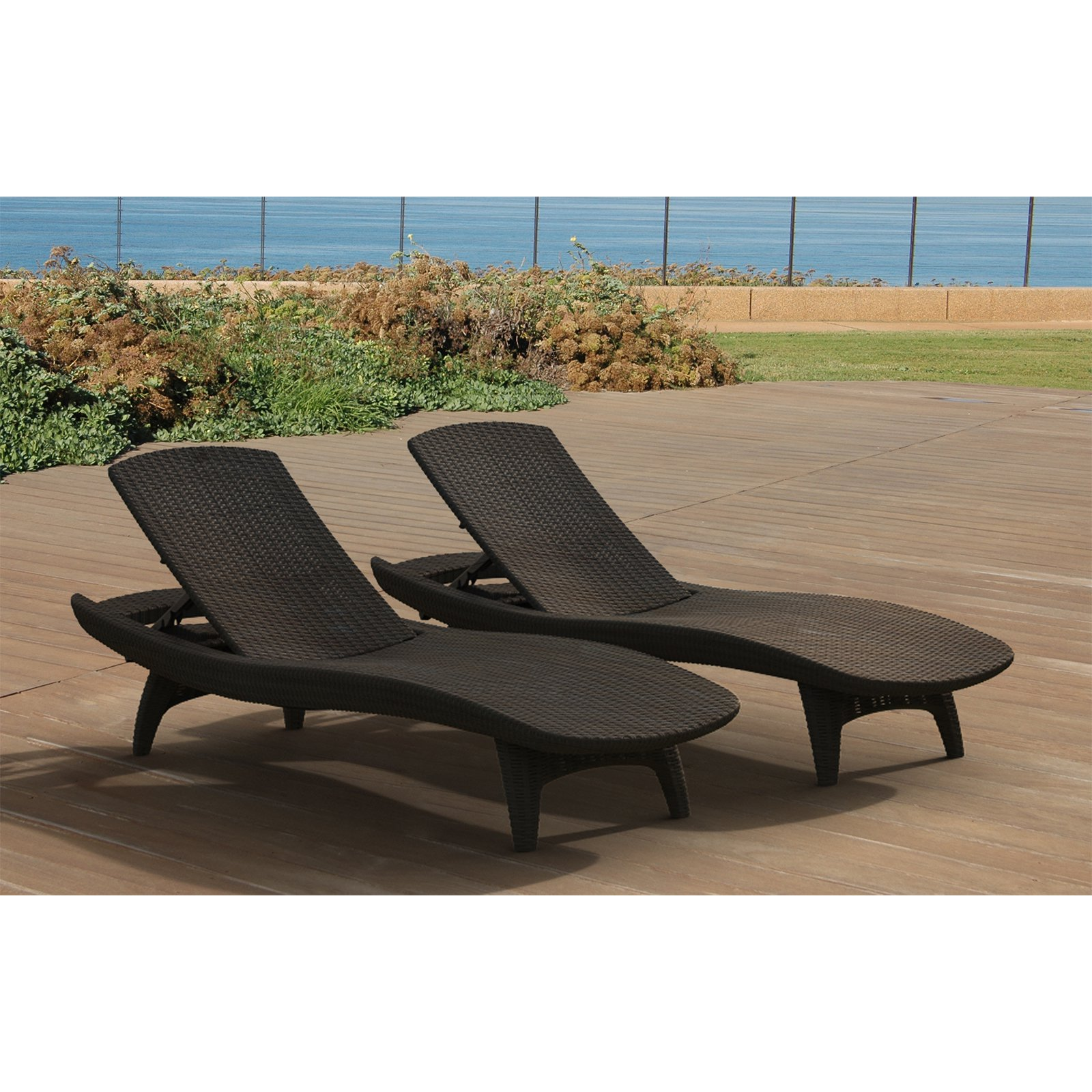 keter outdoor chaise lounge  set of   walmartcom -