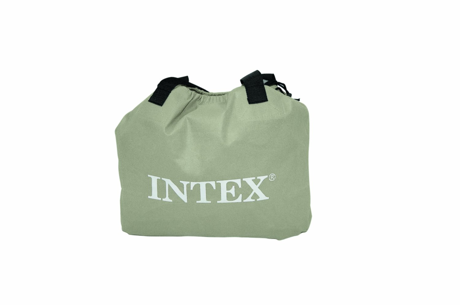 air mattress storage bag Intex Deluxe Twin Pillow Rest Raised Soft Flocked Air Mattress +  air mattress storage bag