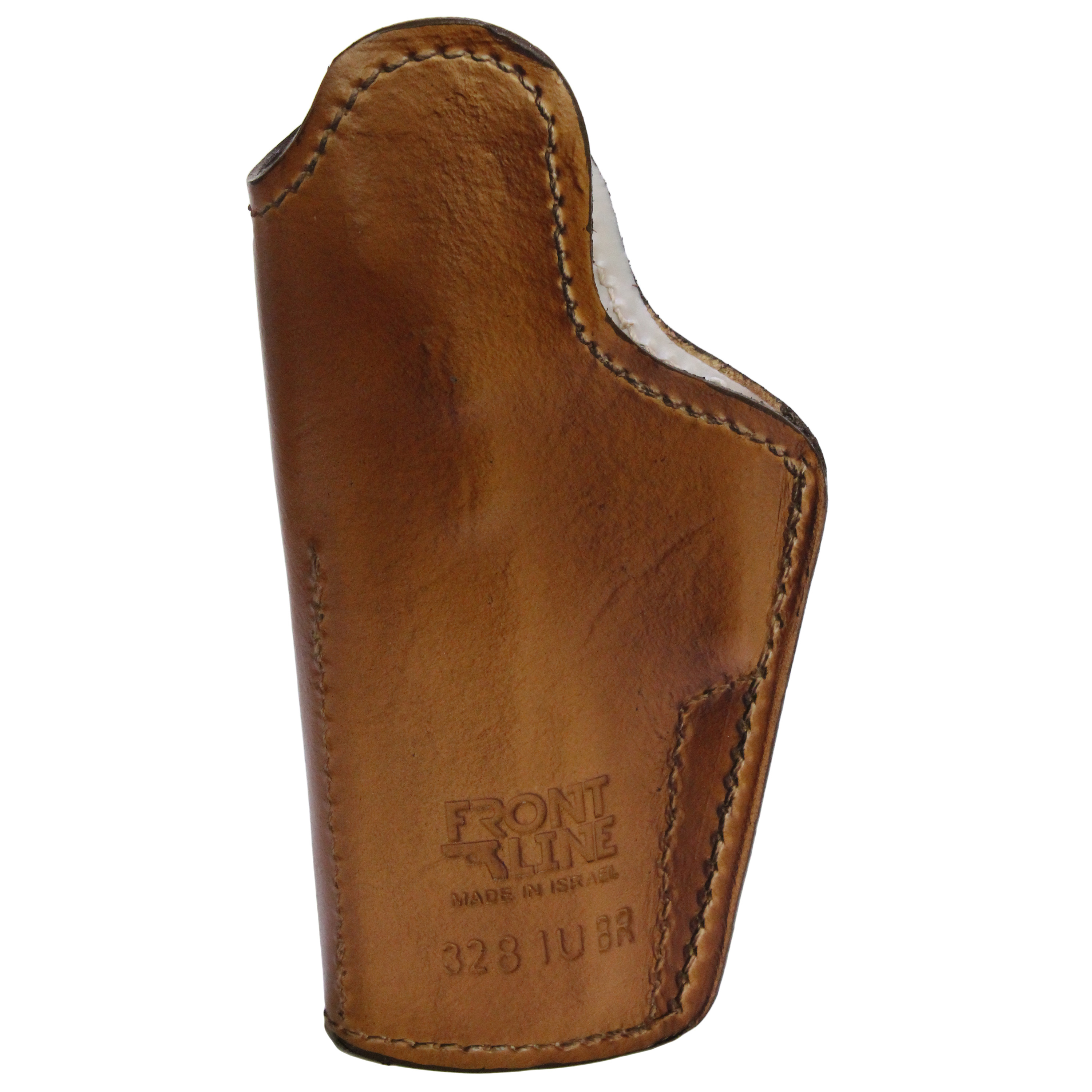 Frontline Inner Waistband Leather Holster Jericho/Baby Eagle Full Size with Rails, Brown, Right Hand