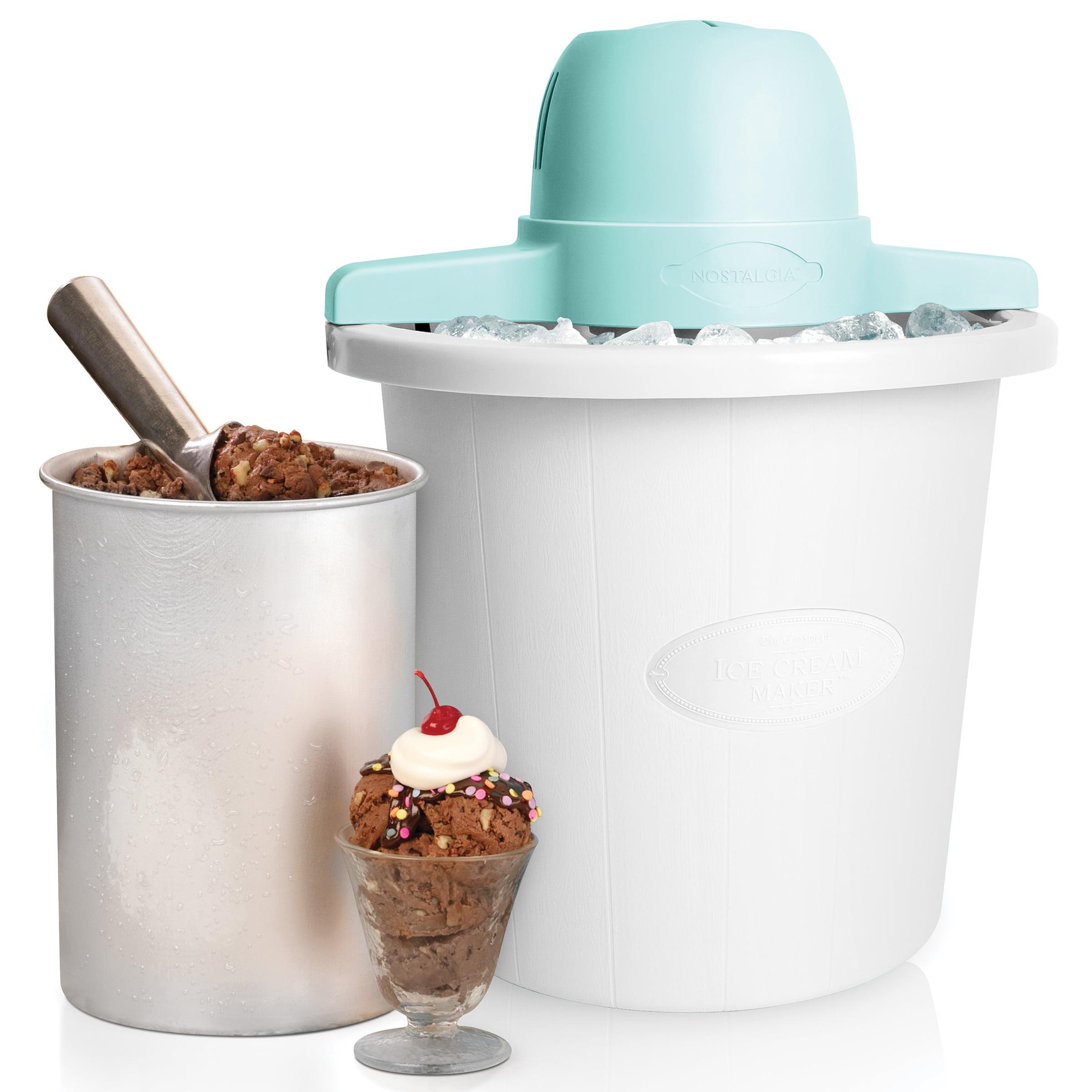 Nostalgia ICMP4WH 4-Qt. Electric Ice Cream Maker, White