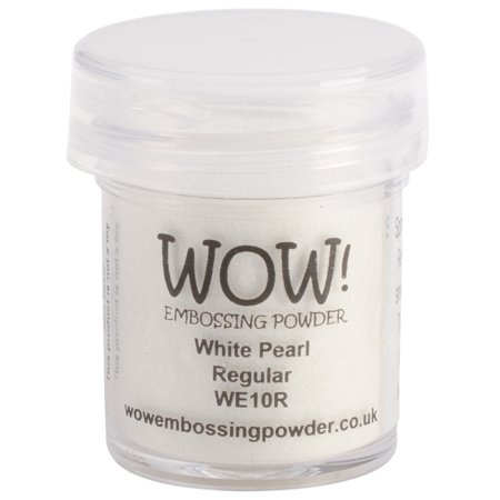 WOW! Embossing Powder 15ml-White Pearl (Best Ink For Embossing Powder)