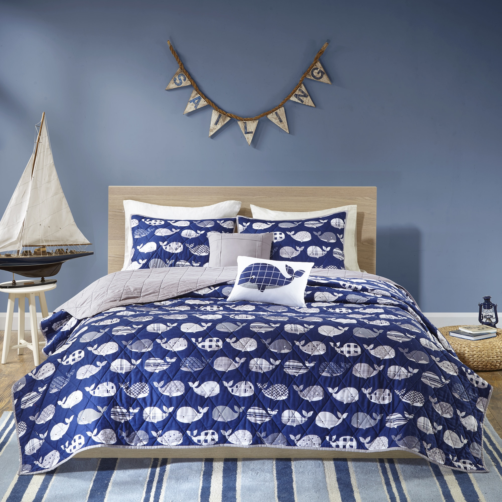Home Essence Kids Theo Prewashed Cotton Coverlet Set