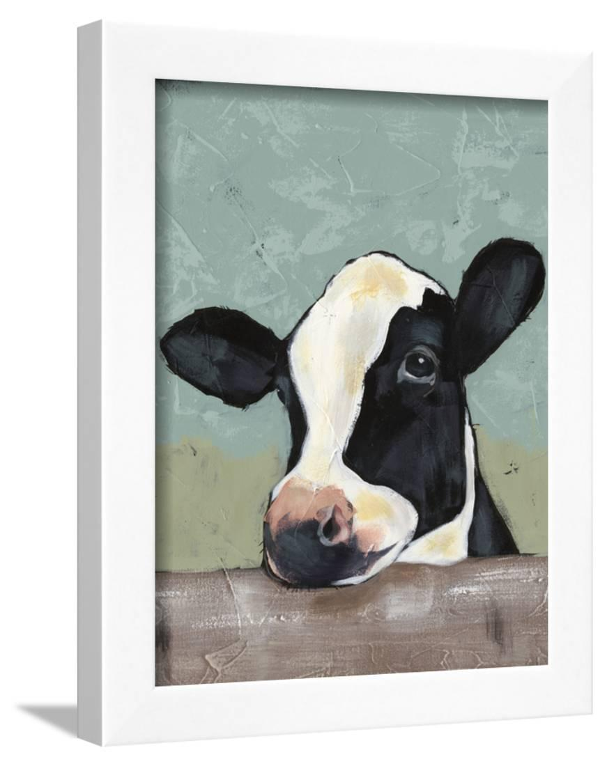 Holstein Cow II Framed Print Wall Artwork By Jade Reynolds by Art.com