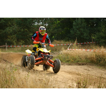 Laminated Poster Motorcycle Quad Cross Motocross Atv Enduro Poster Print 24 X 36