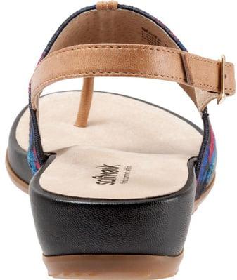 softwalk women's daytona wedge sandal, multi, 7 n us