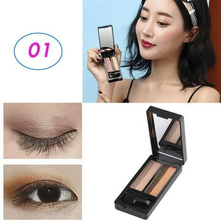 UBUB New Double Color Makeup Eyeshadow Shiny Brights High Pigments Waterproof Shimmer Long Lasting Nude Eye Ultimate Shadow