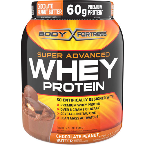 Body Fortress Super Advanced Whey Protein Powder Chocolate Peanut Butter Supplement, 2 lb