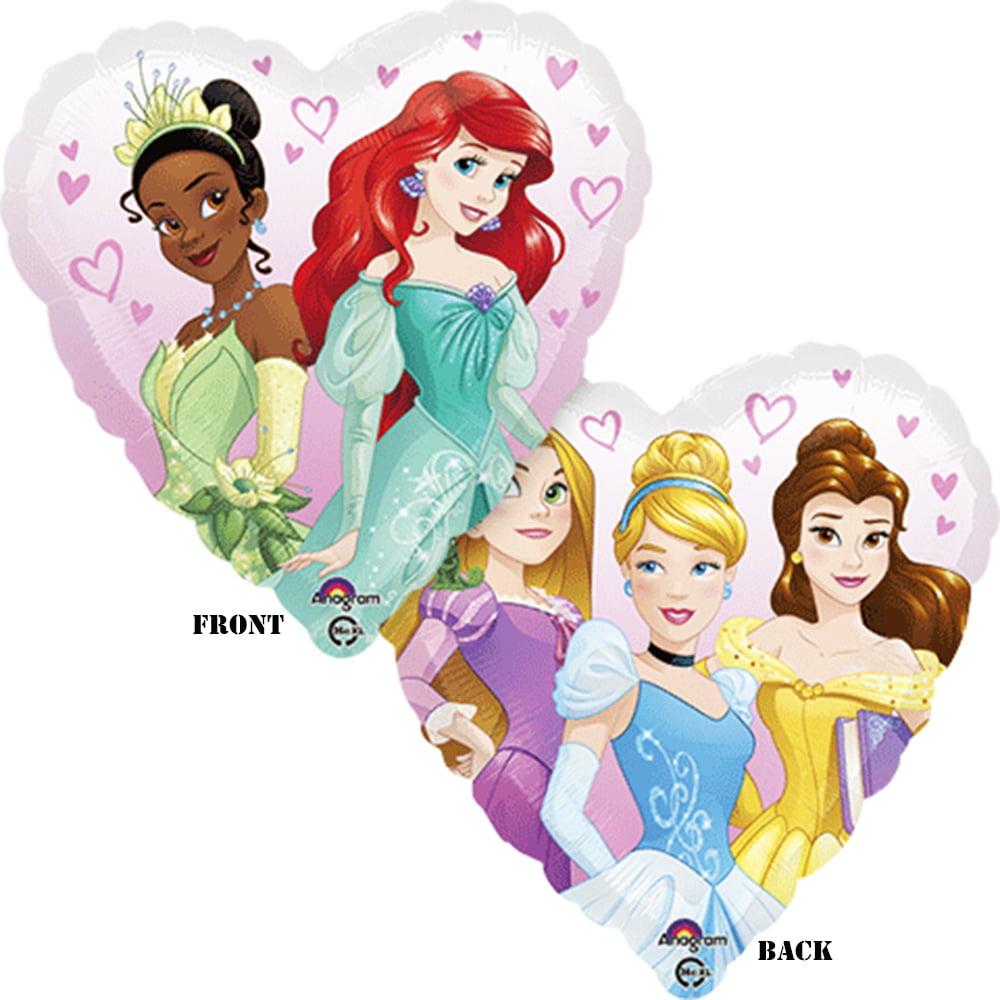 "Princess Dream Big Heart Theme Foil / Mylar Balloon 18"" ( Each )"