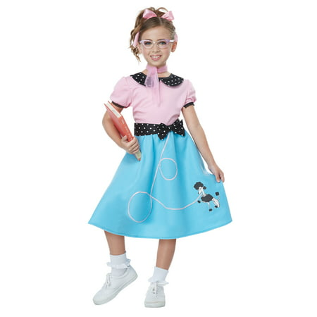 Girls 50's Sock Hop Dress & Poodle Skirt Costume](Halloween Costumes 50's Girl)