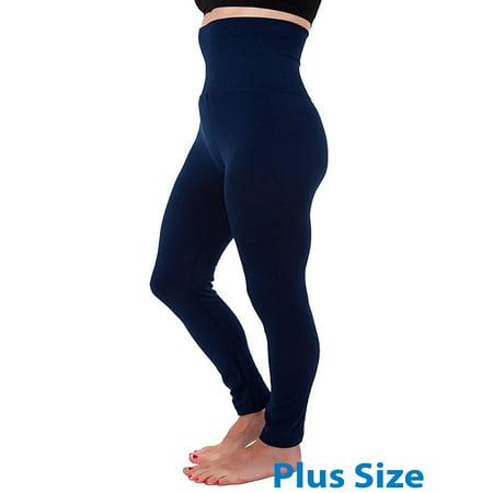 High Waist Tummy Control Full Length Legging Compression Top Pants Fleece Lined Plus Size XL 2XL