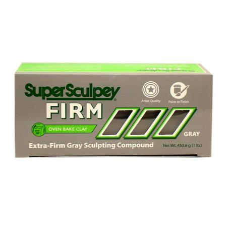 Polyform Super Sculpey Firm Clay 1lb Grey