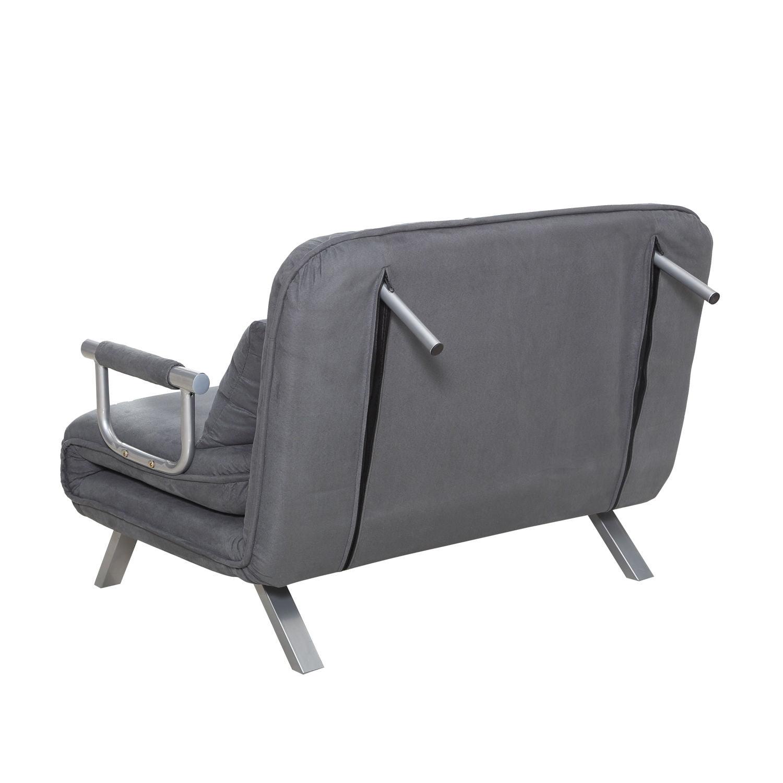 Homcom Twin Size Folding 5 Position Steel Convertible