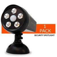 Guardian Torch - Home Security Spotlight - 120°Motion Sensor - Solar Powered (1 Pack)Waterproof Weatherproof Outdoor Floodlight - 5 LED Lights - Dusk to Dawn