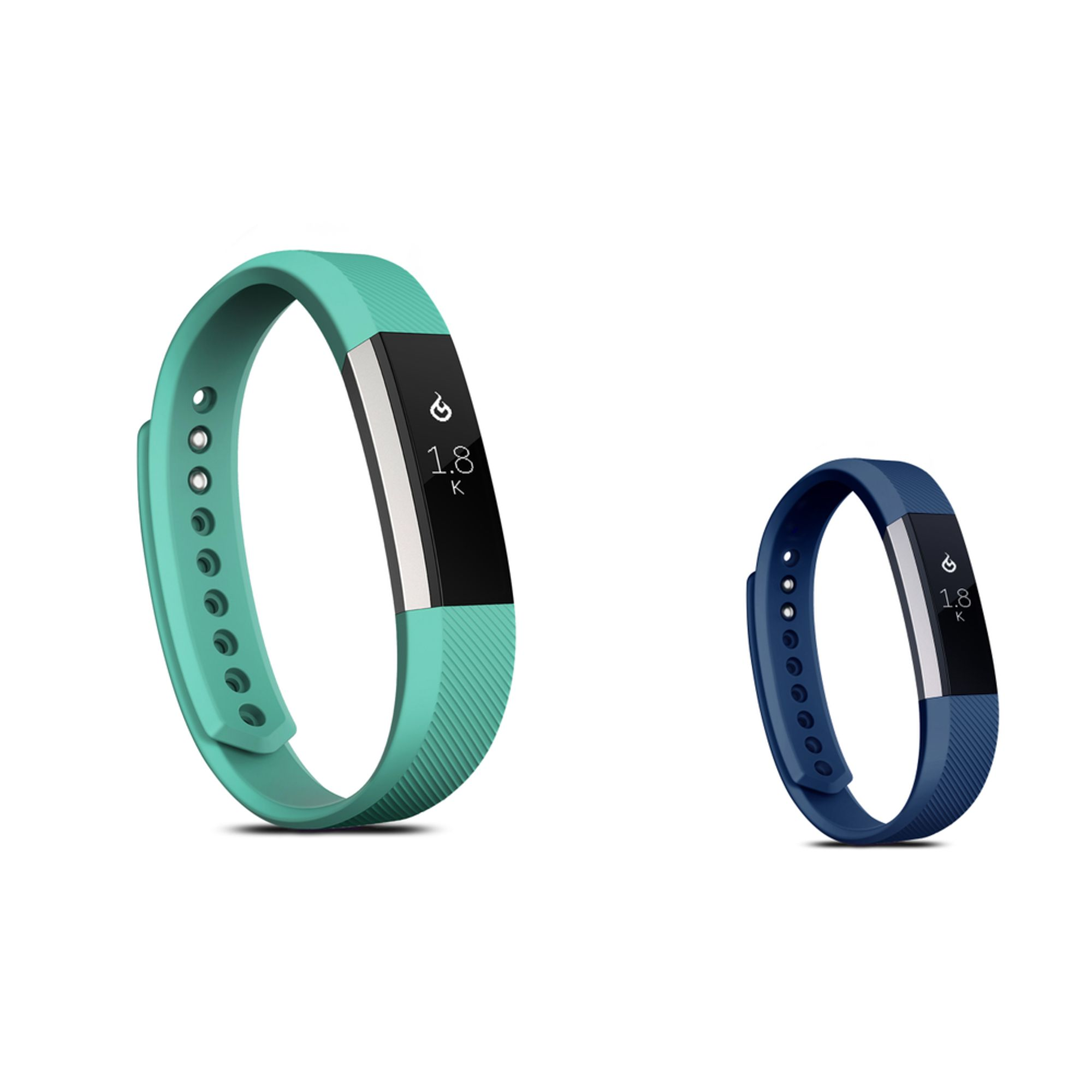 Zodaca Soft TPU Rubber Adjustable Wristbands Watch Band Strap For Fitbit Alta HR / Alta SMALL Size - Mint Green + Navy