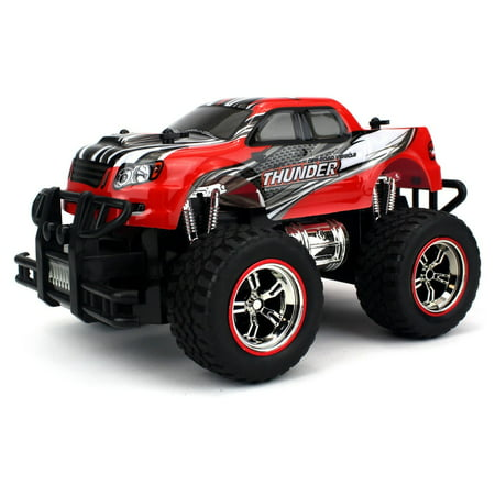 Mini V-Thunder Storm Remote Control RC Truck 1:18 Scale Size Off Road Series Ready To Run RTR (Colors May
