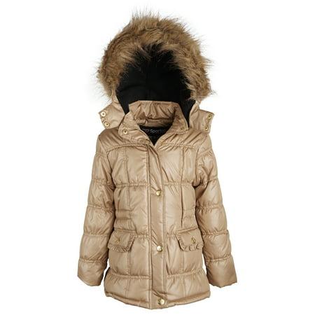7192af10ef36 Sportoli - Sportoli Girls Down Alternative Winter Jacket Fleece ...