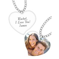 Personalized Heart Photo Pendant