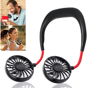 Portable Hands-free Neck Fan with 3 Speed Control and 360 Degree Rotation, Personal Cooling Fan for Camping, Traveling, Amusement Parks, Concerts, sports and Other Outdoor/Indoor Activities