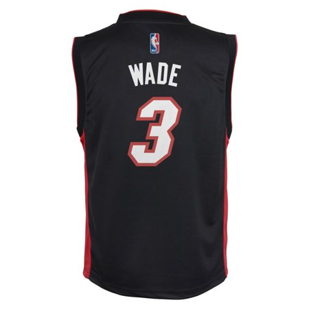 Dwayne Wade Miami Heat Youth Road Replica Jersey (Black) by