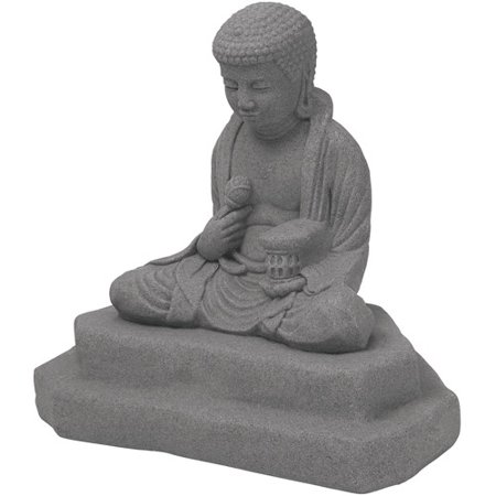 Emsco Group 2221 1 Meditating Buddha Outdoor Statue  Granite