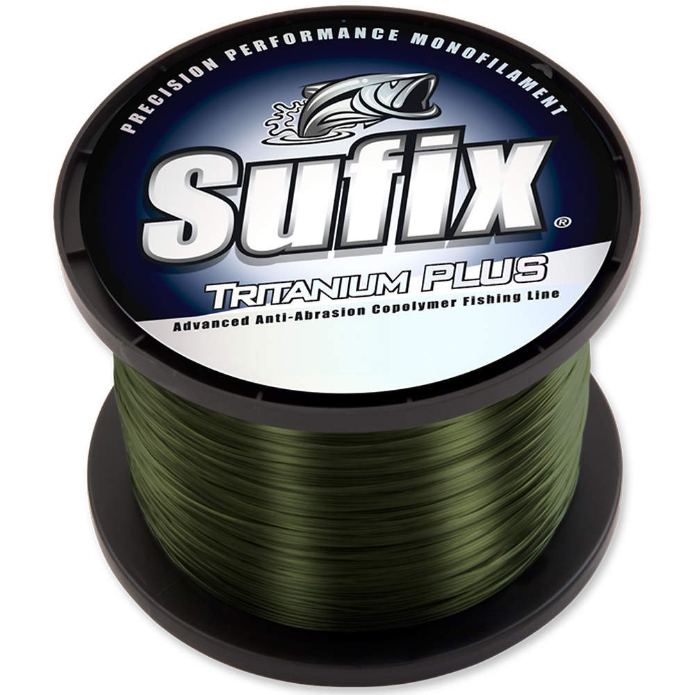 Sufix Tritanium Plus Dark Green Fishing Line (1720 yds) - 8 lb Test