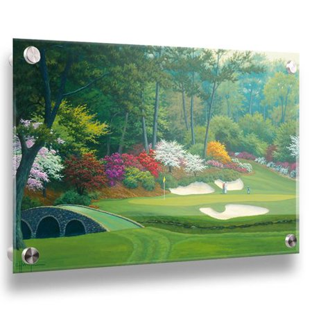 - Darby Home Co '12th Hole at Augusta National' Acrylic Painting Print