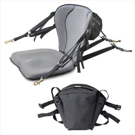 Gts pro molded foam kayak seat with fishing pack sit on for Kayak fishing seats