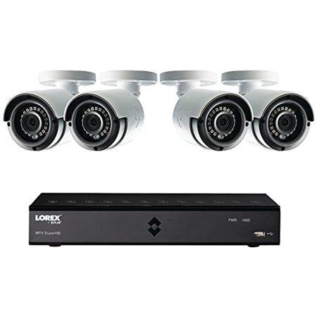Lorex LHA21081TC4B 8-Channel, 4-Camera Indoor/Outdoor Wired 1TB DVR Surveillance System Black/white