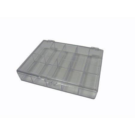 STORAGE BOX CRYSTAL CLEAR 10 COMPARTMENT 4.6