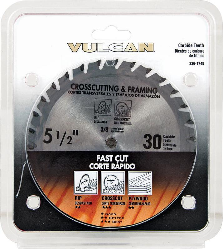 Vulcan 409041OR Circular Saw Blade, 5 in Dia, 30 Teeth, 0.393 in Arbor