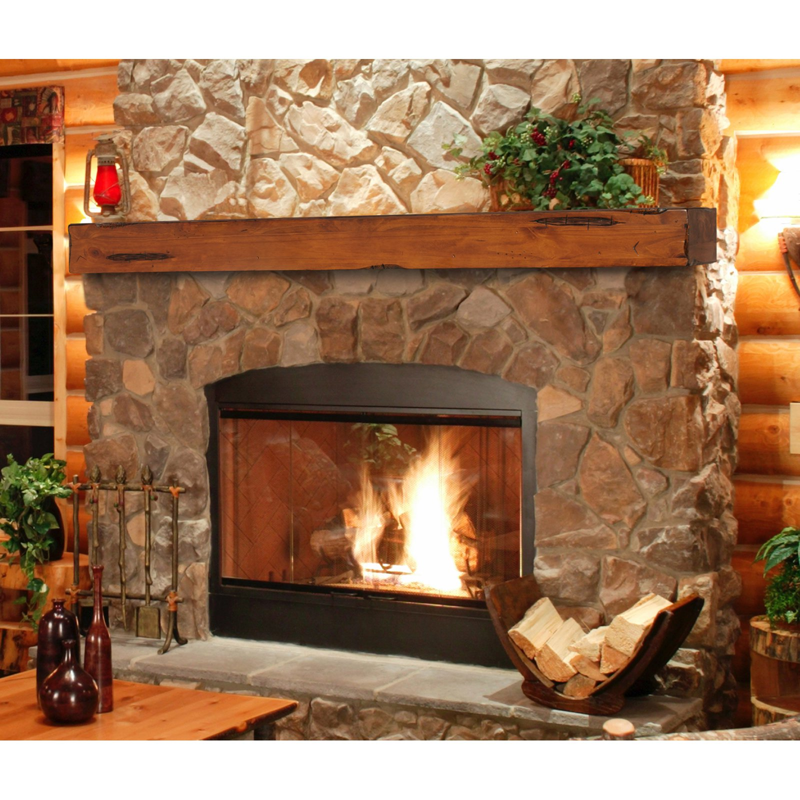 Pearl Mantels Shenandoah Traditional Fireplace Mantel Shelf ...