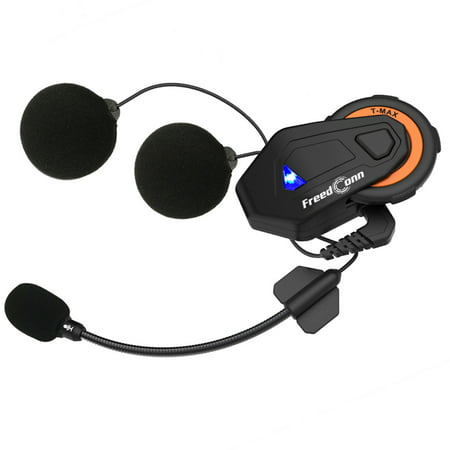 FreedConn T-MAX Bluetooth 4.1 Helmet Intercom System 1000M Wireless Motorcycle Headset IPX65 Dust-proof & Waterproof 6 Riders Full Duplex Interphone w/ FM